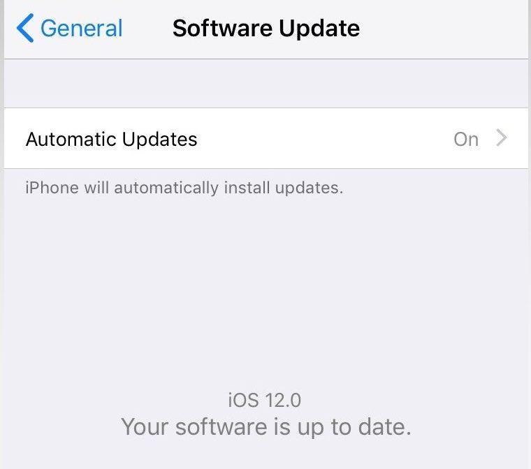 iOS auto update