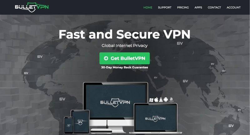 BulletVPN Home Page