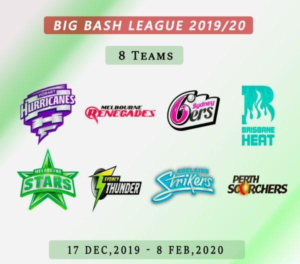 BBL Teams, Fixtures