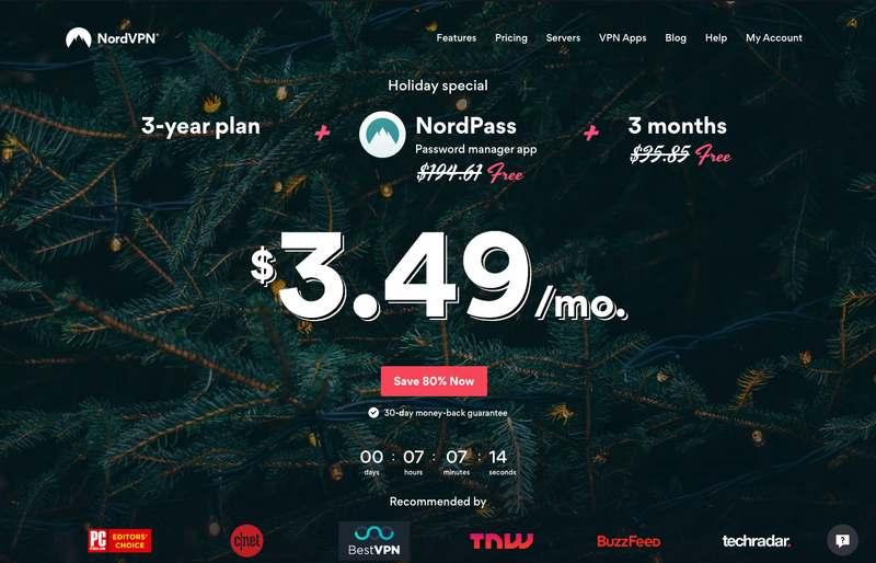 The NordVPN Website