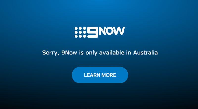 9Now Geo-error Message