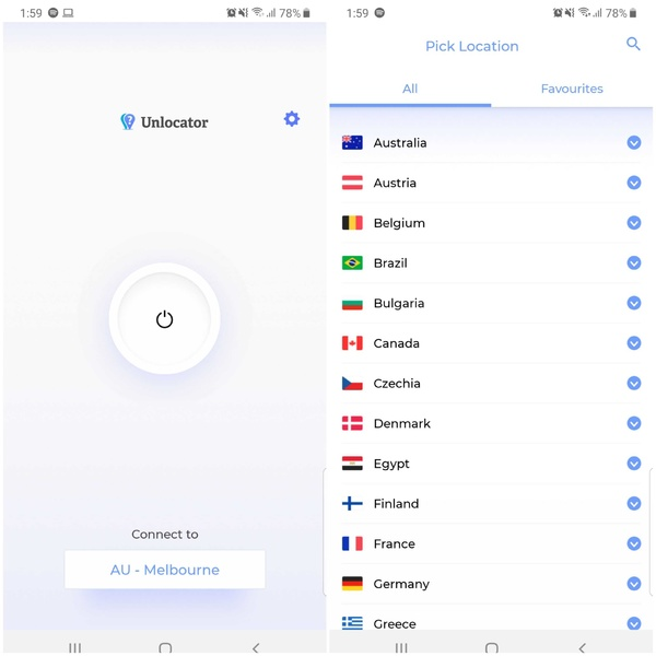 Unlocator Android App