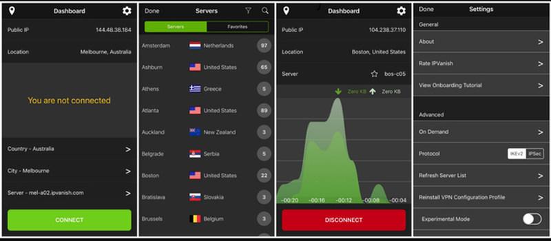 IPVanish mobile app