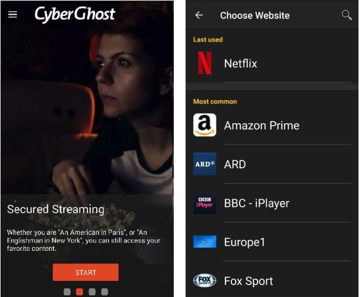CyberGhost Unblock Netflix