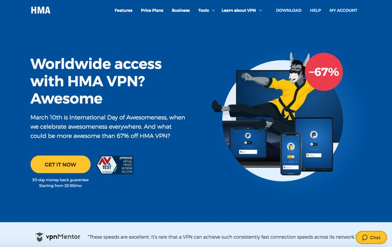 HideMyAss VPN Website
