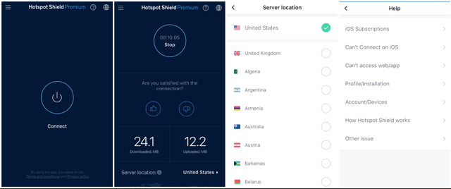 Hotspot Shield iOS App