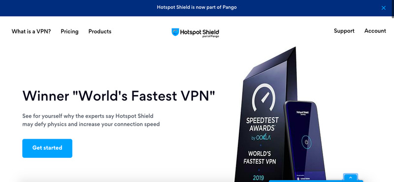 Hotspot Shield Website