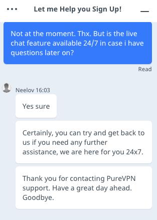 PureVPN Customer Support
