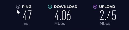 Surfshark Speed Test 1: No VPn