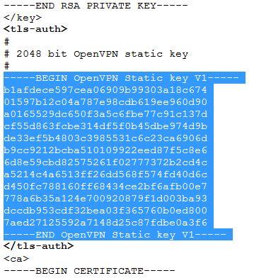 TLS Authentication Key