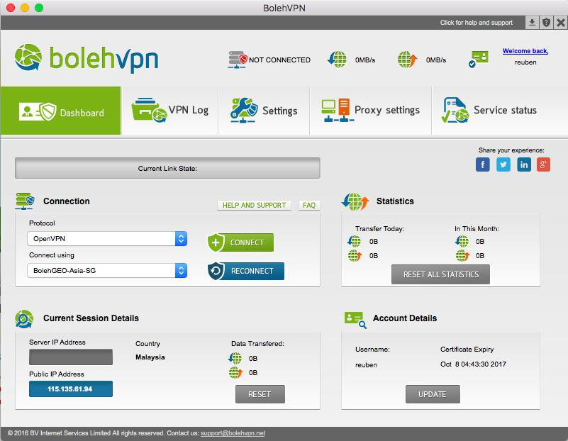 BolehVPN Dashboard