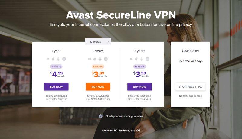 SecureLine VPN Homepage