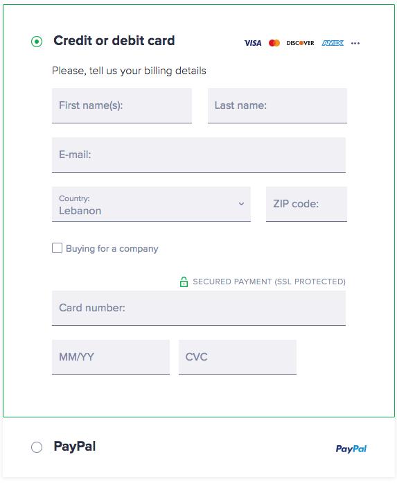 SecureLine VPN Payment Methods