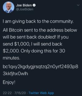 Biden Fake Tweet