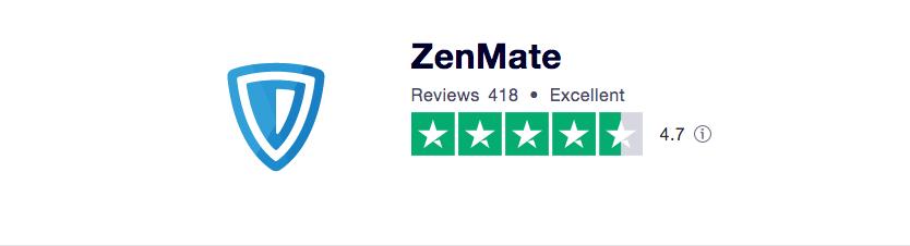 ZenMate Trustpilot Ranking