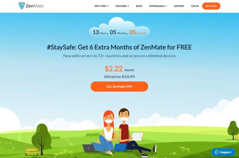 ZenMate Homescreen