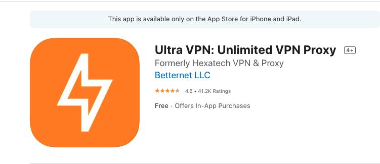 UltraVPN iOS
