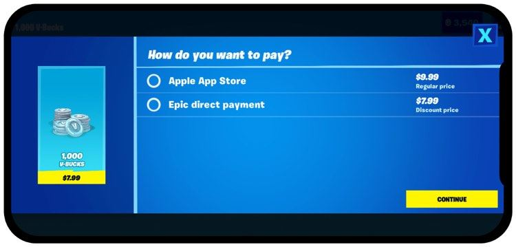 Fortnite Direct Payment System