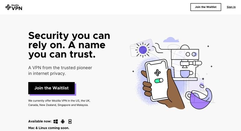 Mozilla VPN Website