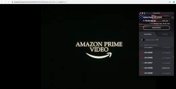 ProtonVPN PRime Video