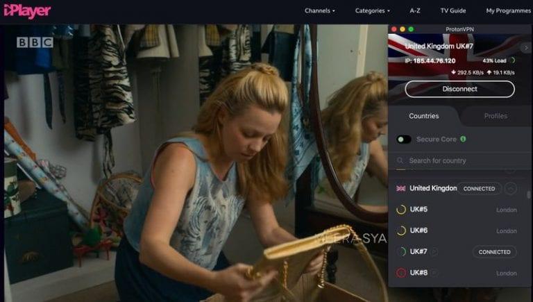 ProtonVPN BBC iPlayer