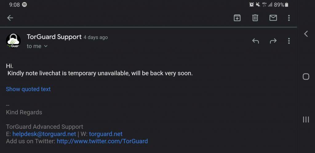 TorGuard Customer Support