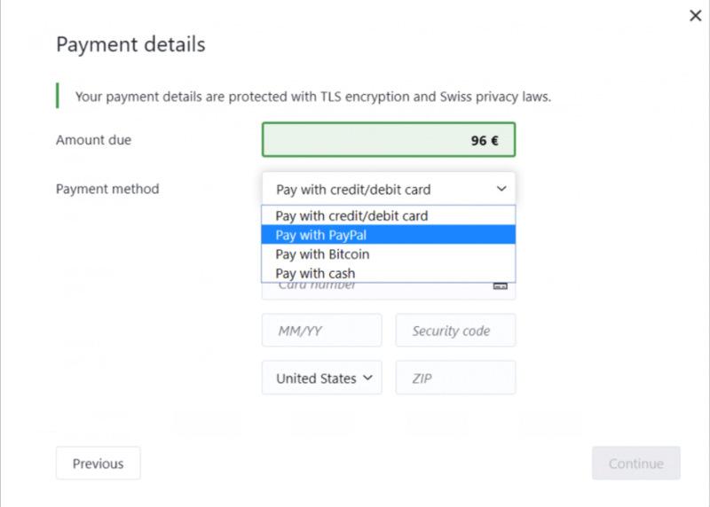ProtonVPN Payment Methods