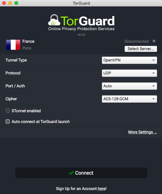 TorGuard VPN Mac App
