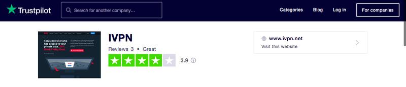 IVPN Trustpilot Score