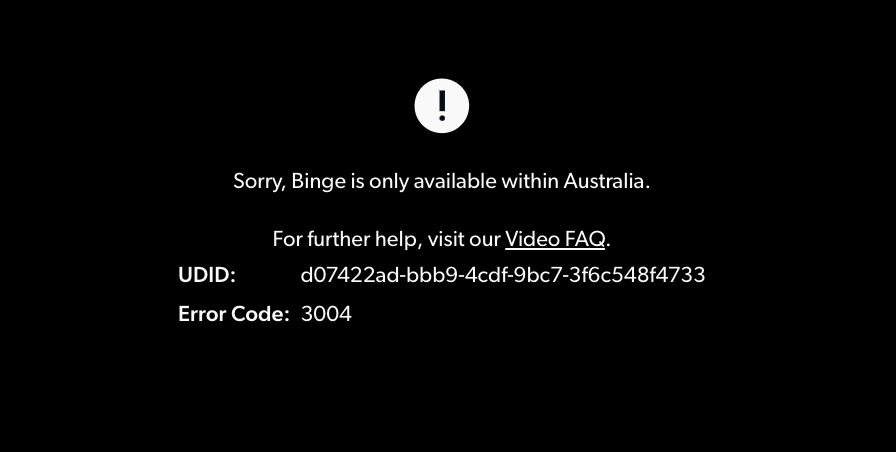 Binge Error 3