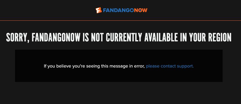 FandangoNow Error