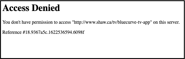 Shaw Error