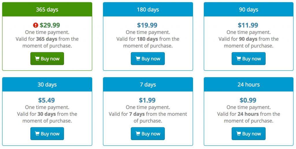 VPNJack Pricing
