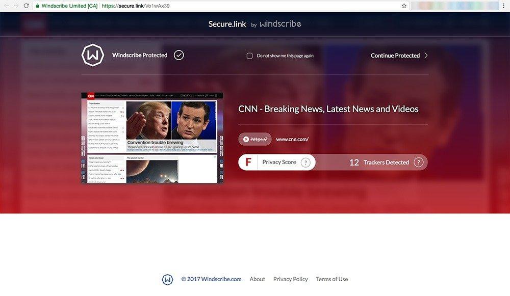 Windscribe Website