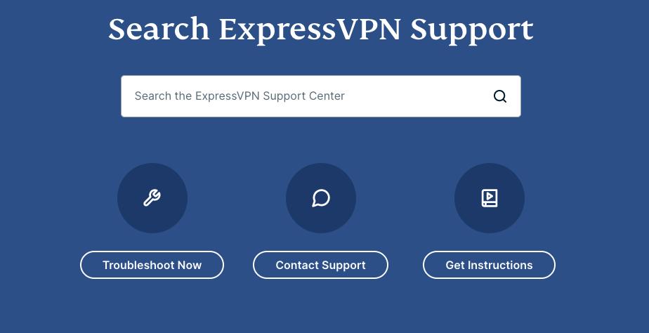 ExpressVPN Support Page