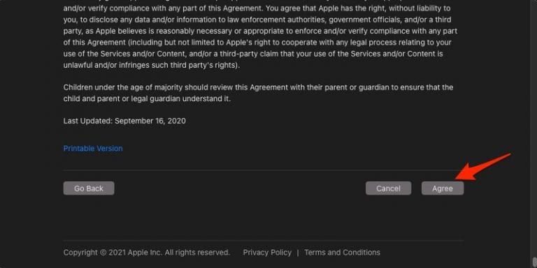Mac Terms and Conditions