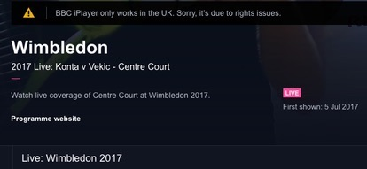 Wimbledon 2017 Error