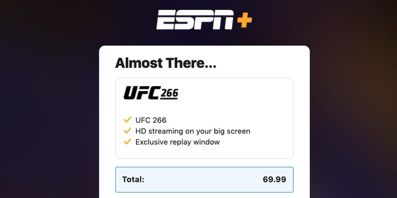 UFC 266 Price