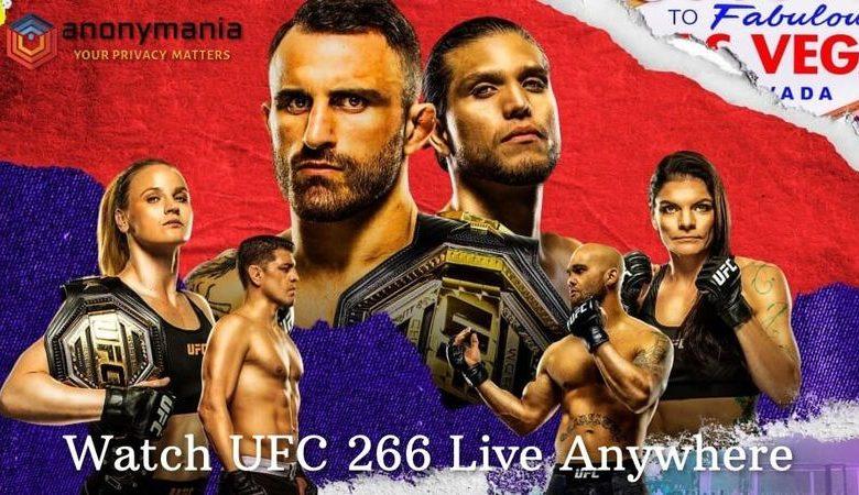 Watch UFC 266 Live Online